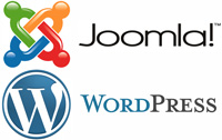 joomla-wordpress-logos